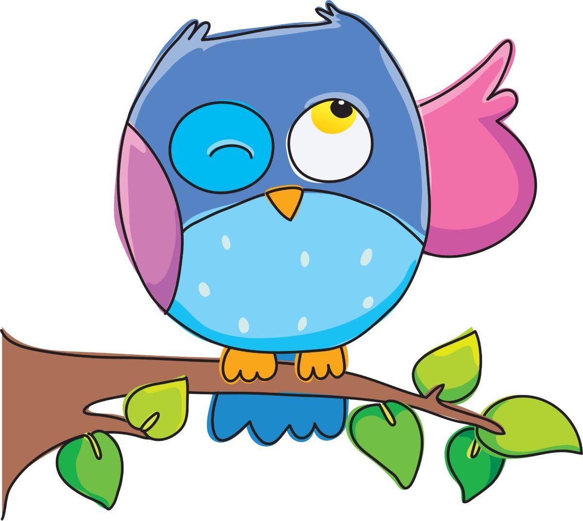 Adesivi murali gufino azzurro leostickers for Immagini pagliaccio per bambini